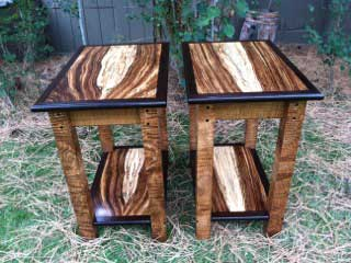 Photo Of Spotted Zebrawood Table Set